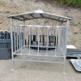 Round Bale Feeder with Roof, (Stocked Product), $1,050