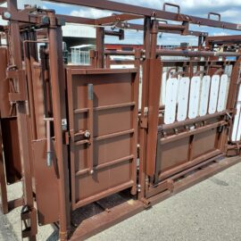 Deluxe Cattle Squeeze with Palpation Chamber (Ordered Product), $6,499