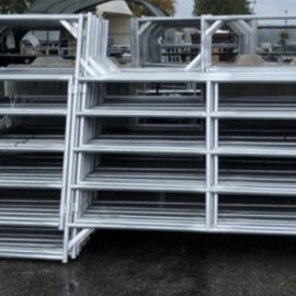 Medium Duty Galvanized Panel with Walkthrough Gate 12′ x 5′ (Stocked Product), $199