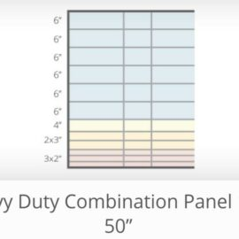 "Heavy Combination Panels 16′ x 50"" (Ordered Product), $95"