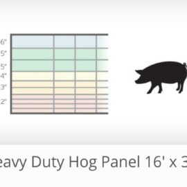 "Heavy Duty Hog Panels 16′ x 34"" (Ordered Product), $63"