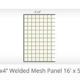 16′ x 52″ 4by4″ Gap Welded Panels (Stocked Product), $55