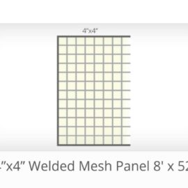 8′ x 52″ 4by4″ Gap Welded Panels (Stocked Product), $32