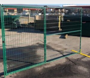 Heavy Duty 65lb Temporary Fence Panel 9.5′ x 6′ with Man Gate (Ordered Product), $169